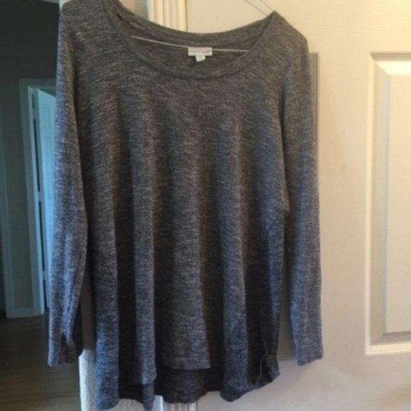 J.Jill long sleeve grey cotton tunic M