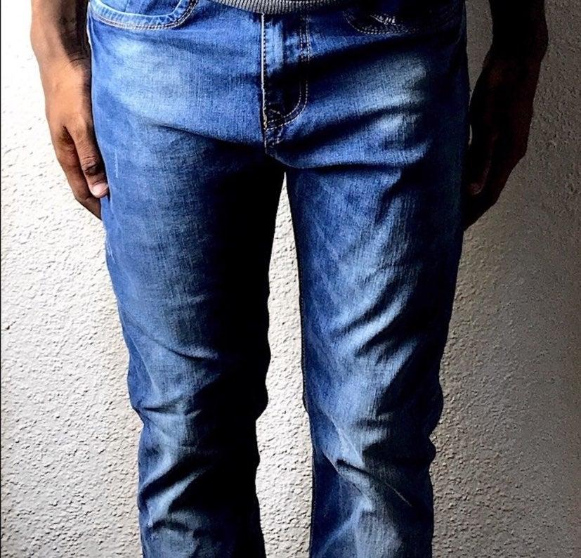 Half and Half Blue Jeans