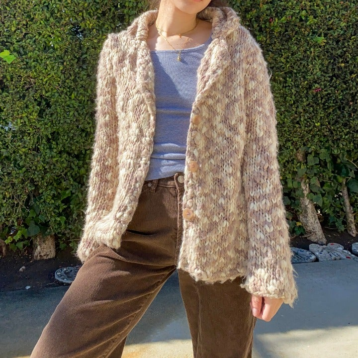 vintage knitted sweater jacket