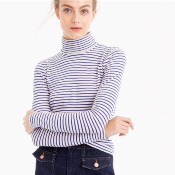 J. Crew Womens Turtleneck Shirt Size L