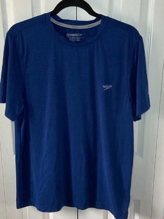 Speedo Men's T-shirt Blue Size Medium