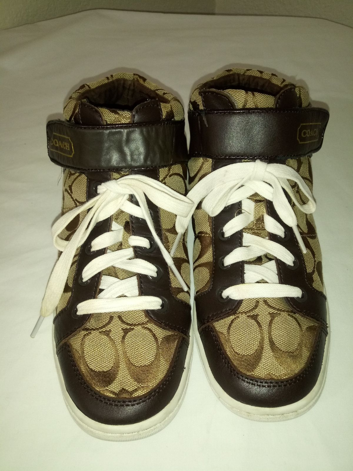 Coach Hightop Canvas Shoes