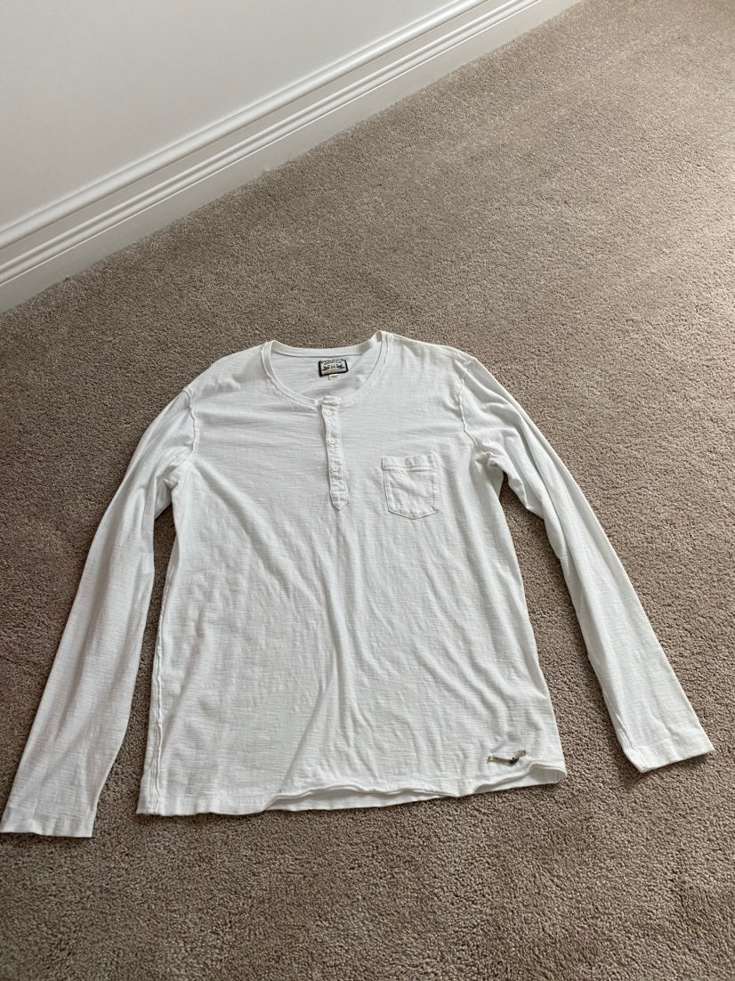 Mens White Long Sleeve Diesel Shirt