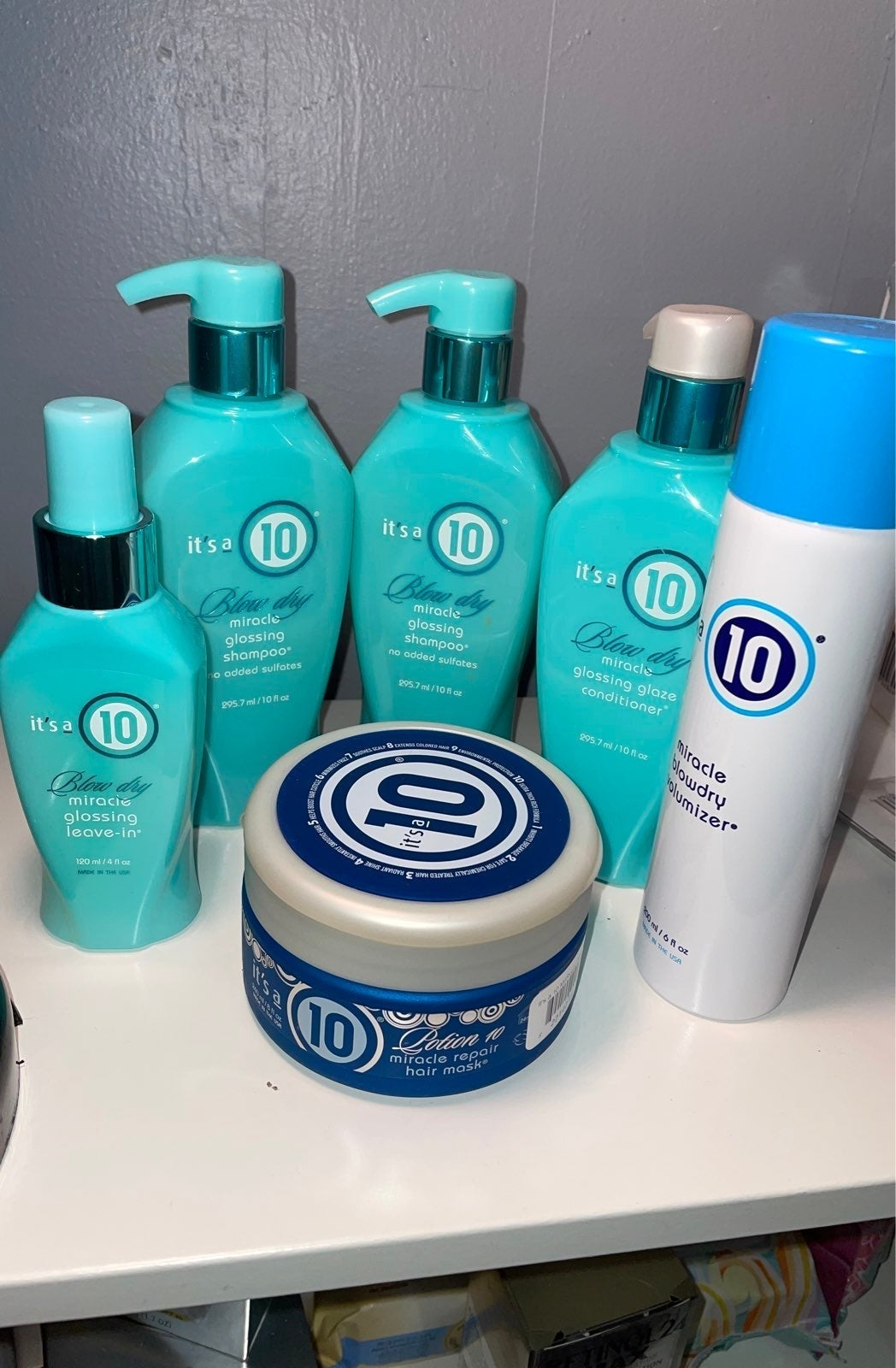 Its a 10 blow dry miracle hair products