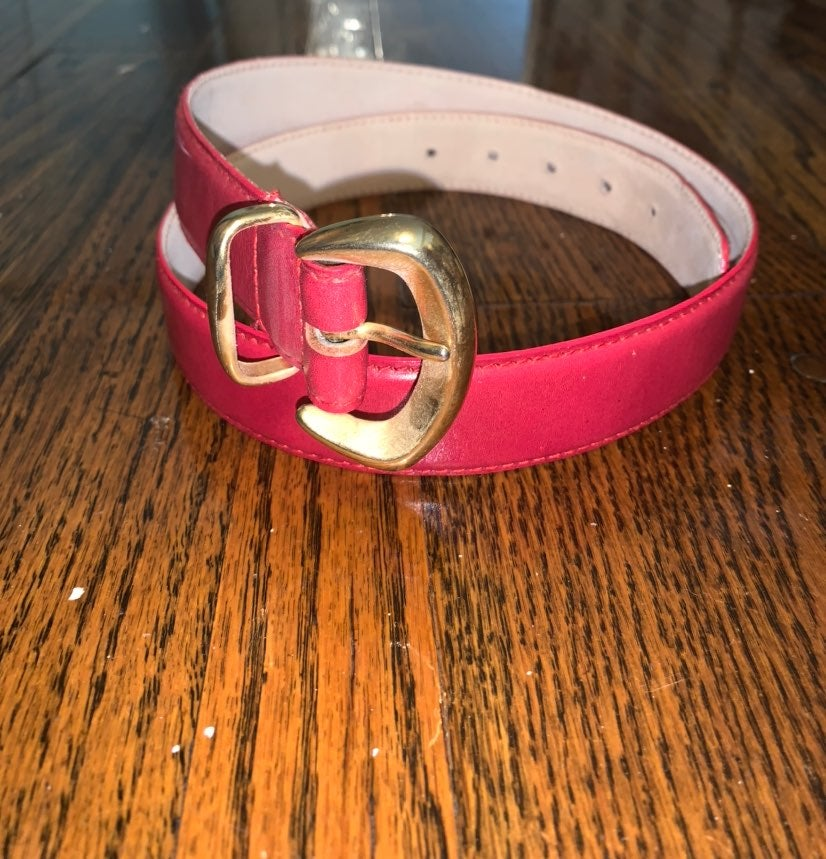 Talbots Red Leather Belt