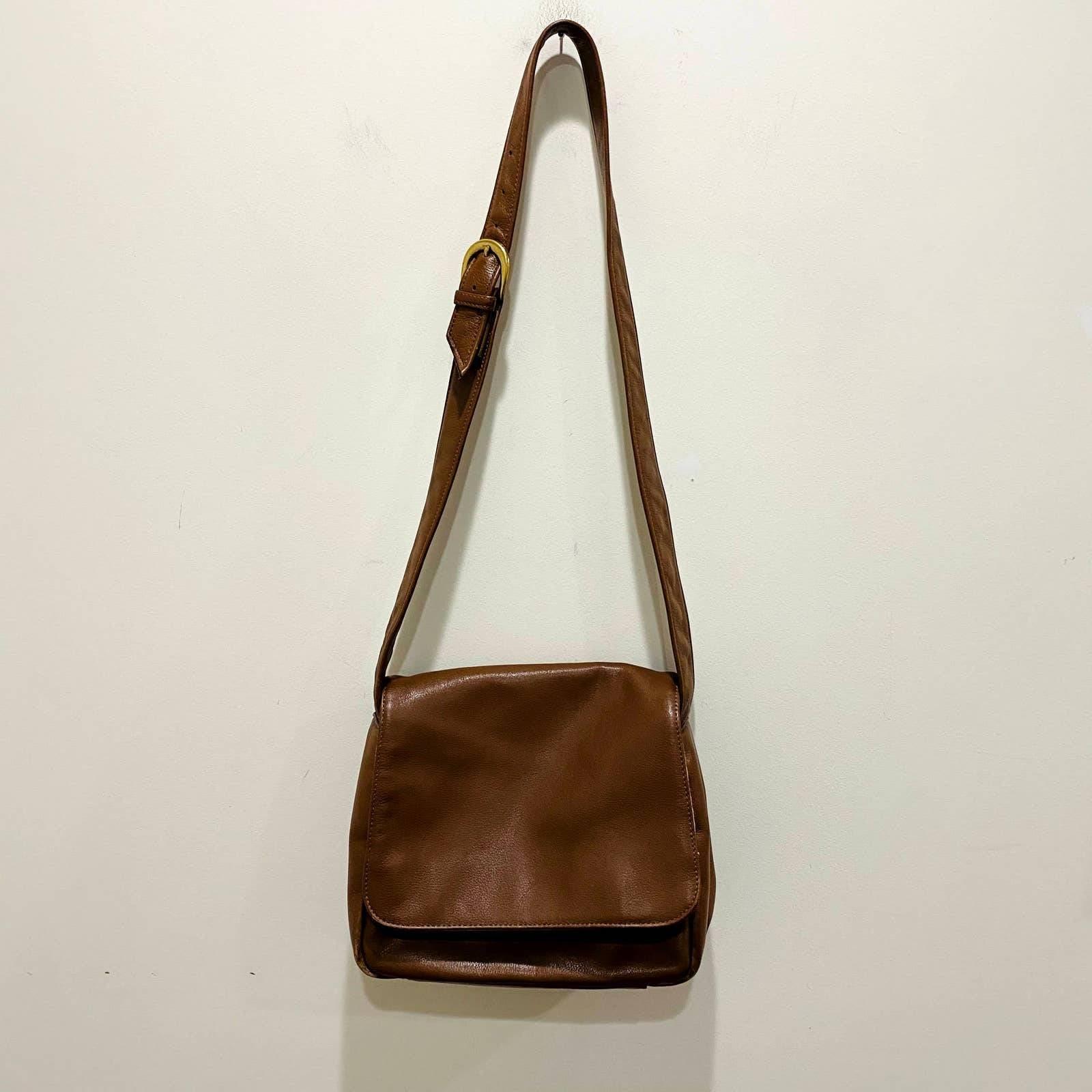 Vintage Stone Mountain Brown Leather Bag