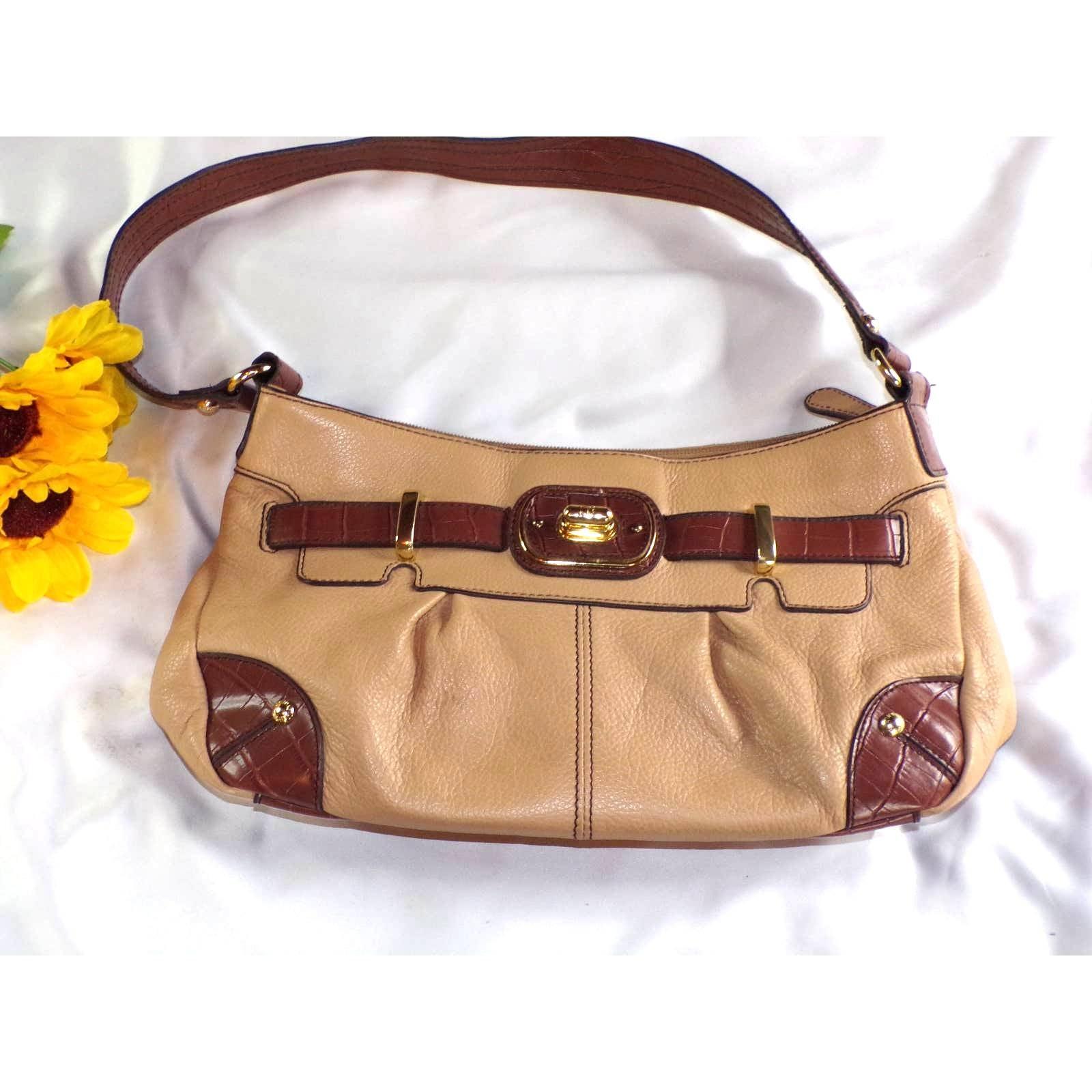 Etienne Aigner Leather Handbag Tan