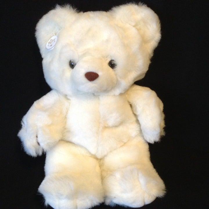 "Russ White Plush Bear Snowden 15"""