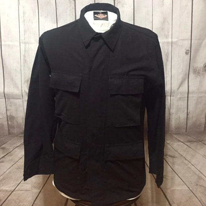 NWT Tru Spec Black Shirt Mens S Cargo