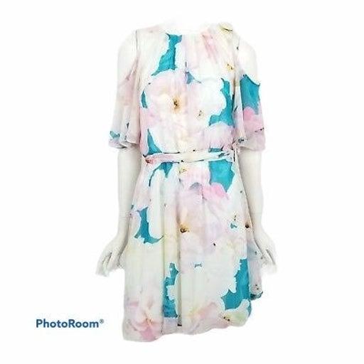 Calvin Klein Floral Cold Shoulder dress