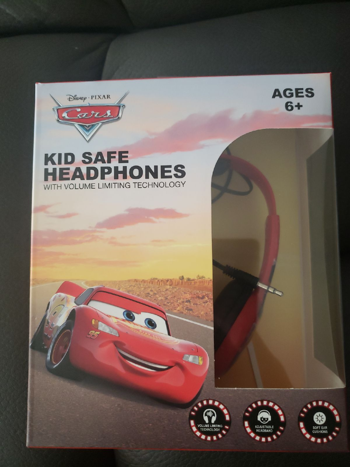 Disney Pixar Cars kids Safe Headphones