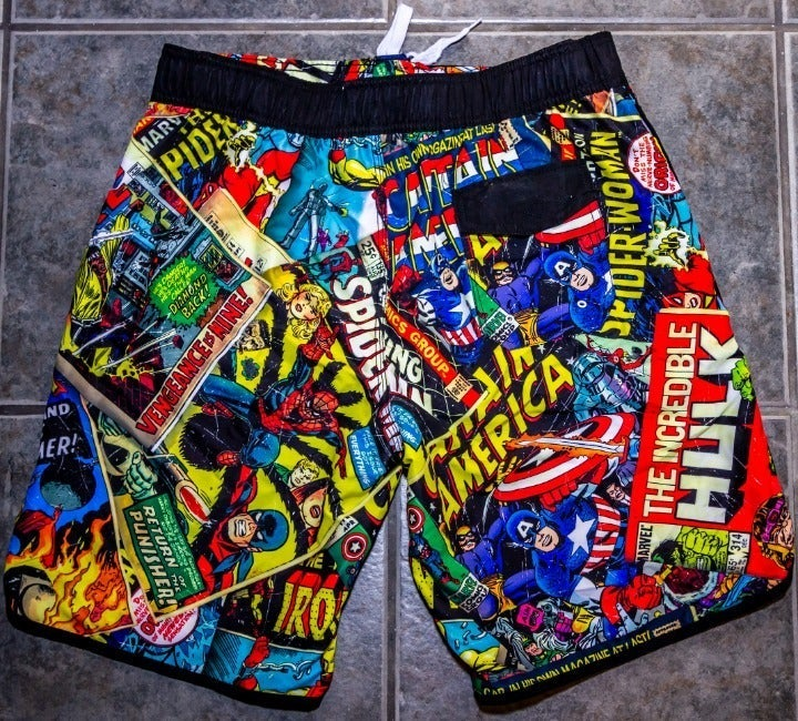Marvel Comics Swim Trunks