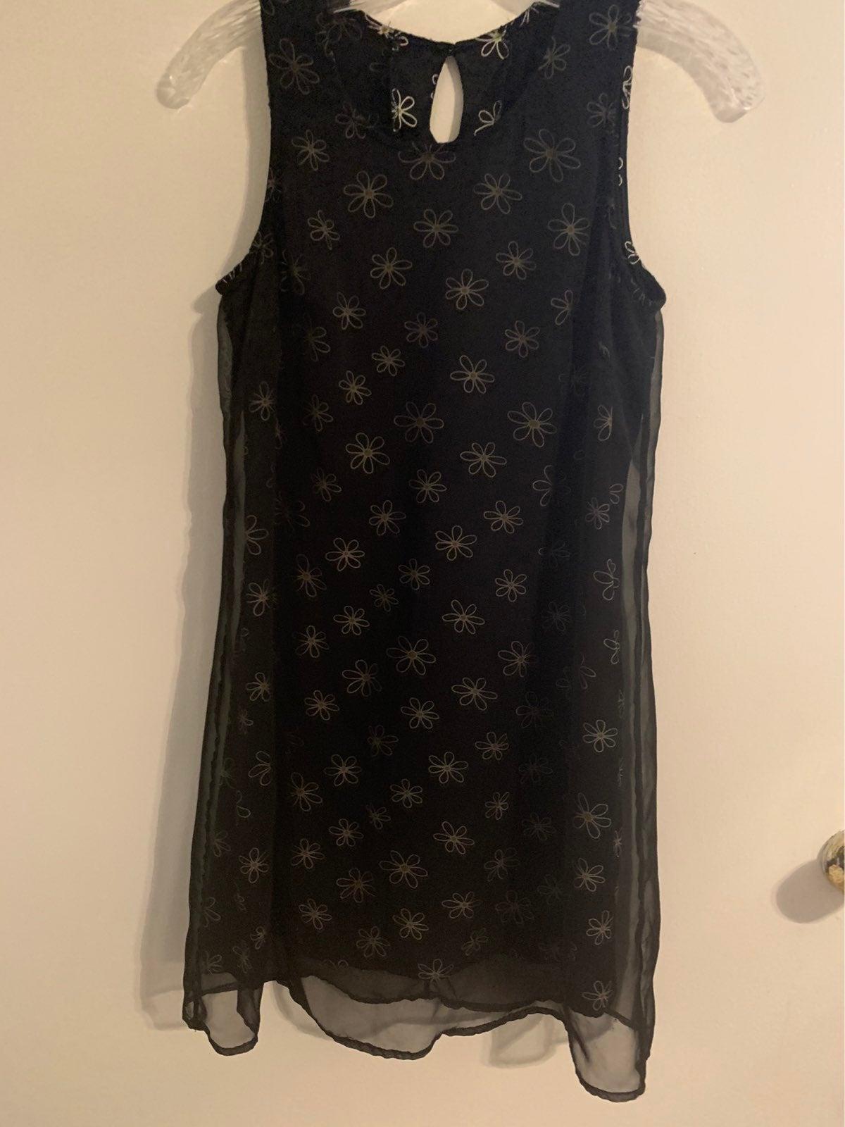 BYER TOO! Size 7 Black Knee Length Dress