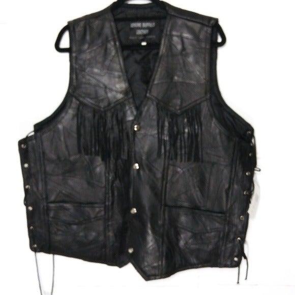NWT Genuine Buffalo Leather Vest Sz 4x