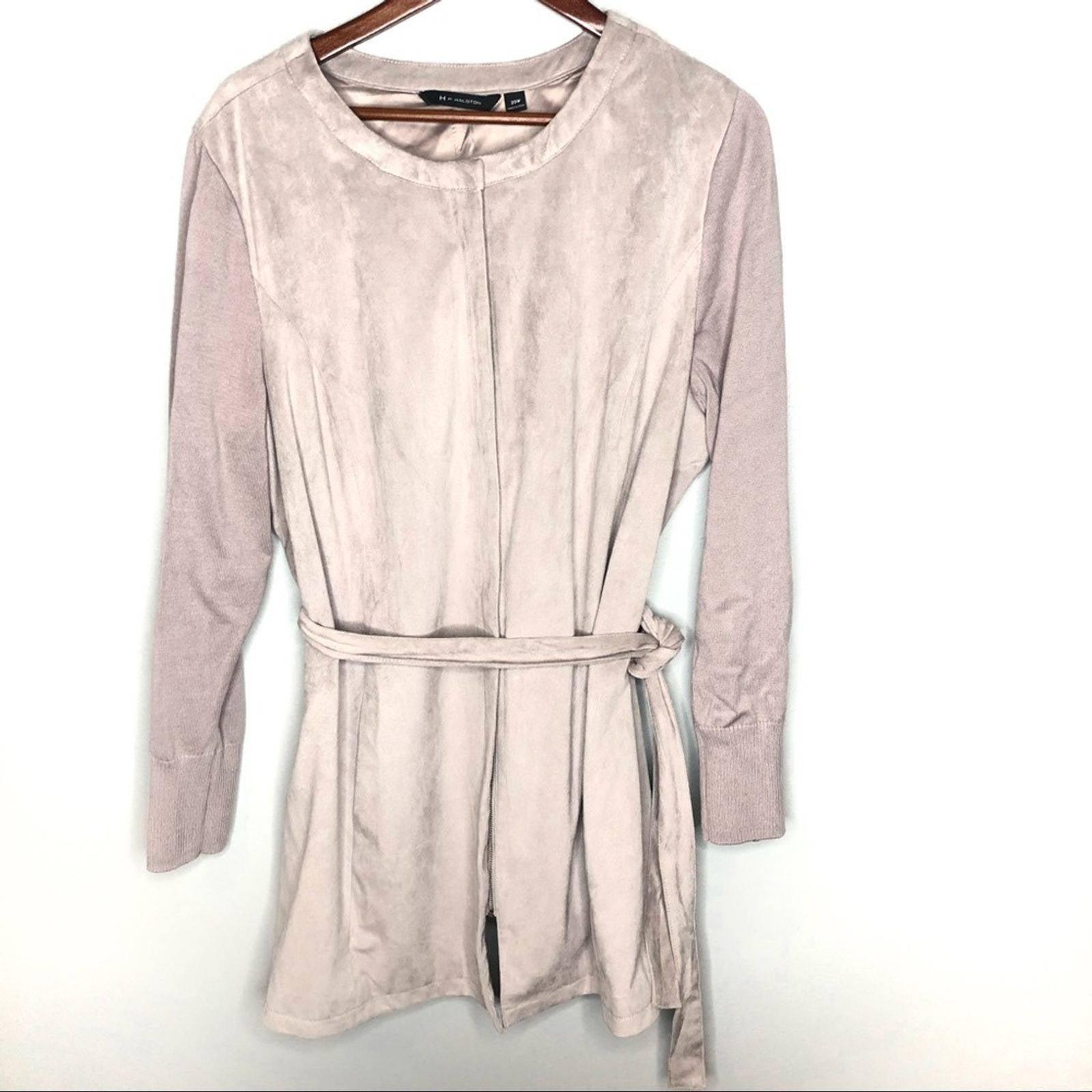H by Halston plus size faux suede jacket