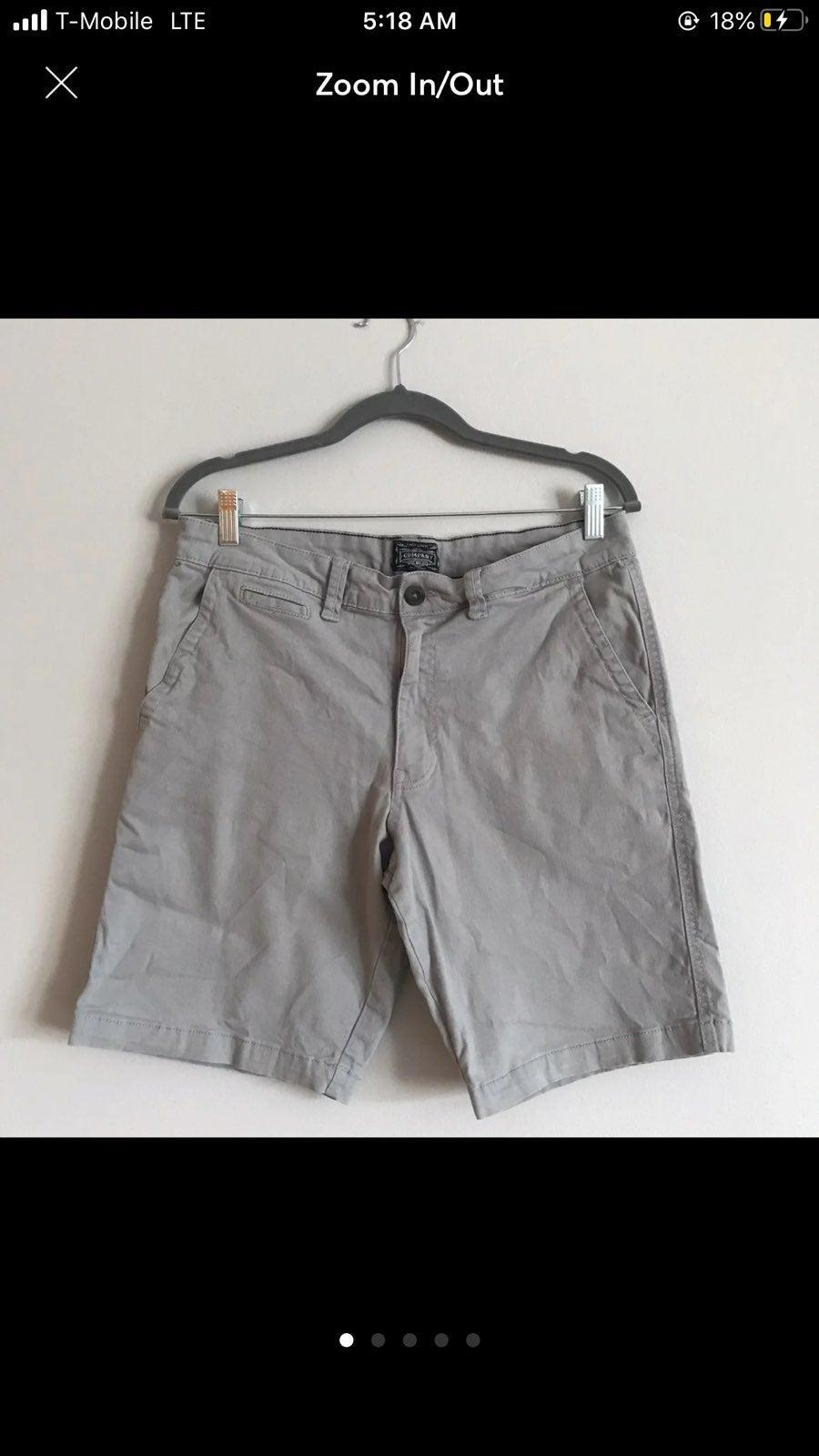 Men's light grey shorts size 34