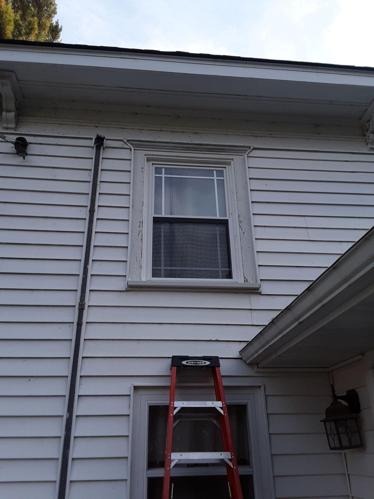 Metal wrapping windows or door.