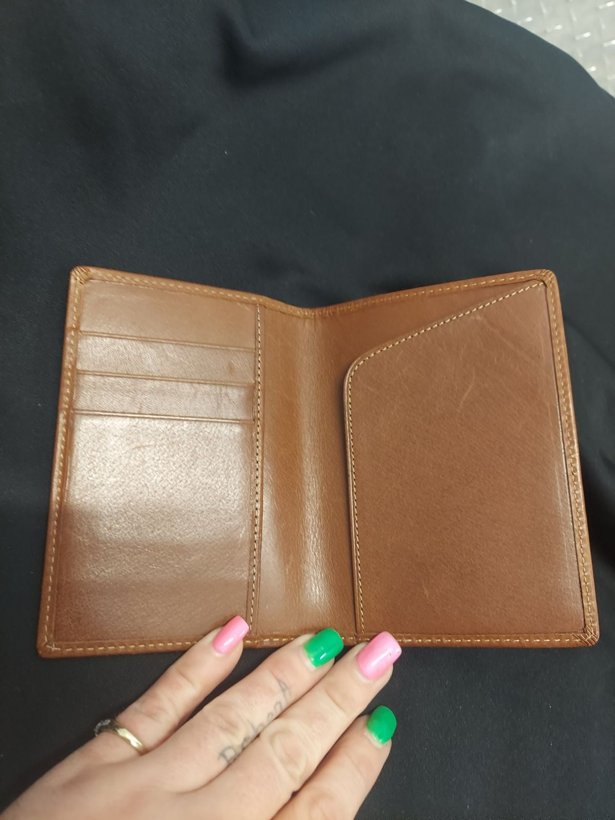 Coach Tan Leather Passport Holder RETAIL