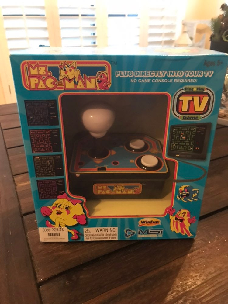 New In Box Ms. Pac Man Plug and Play