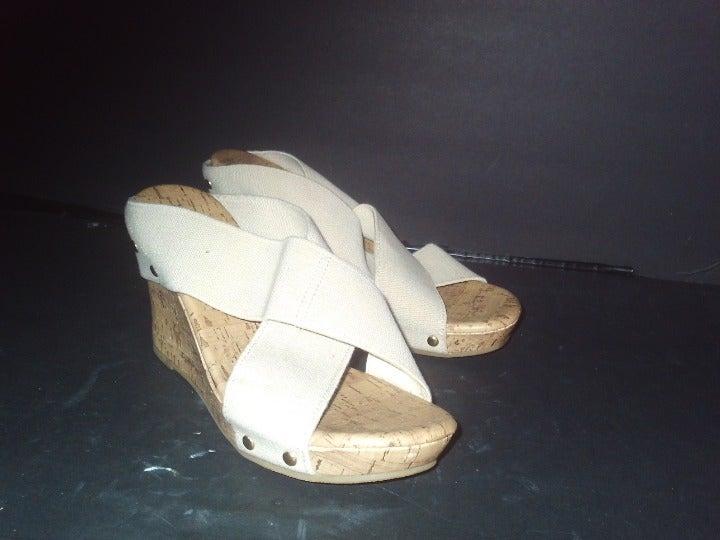 A.N.A. A New Approach Wedge Sandal Tan
