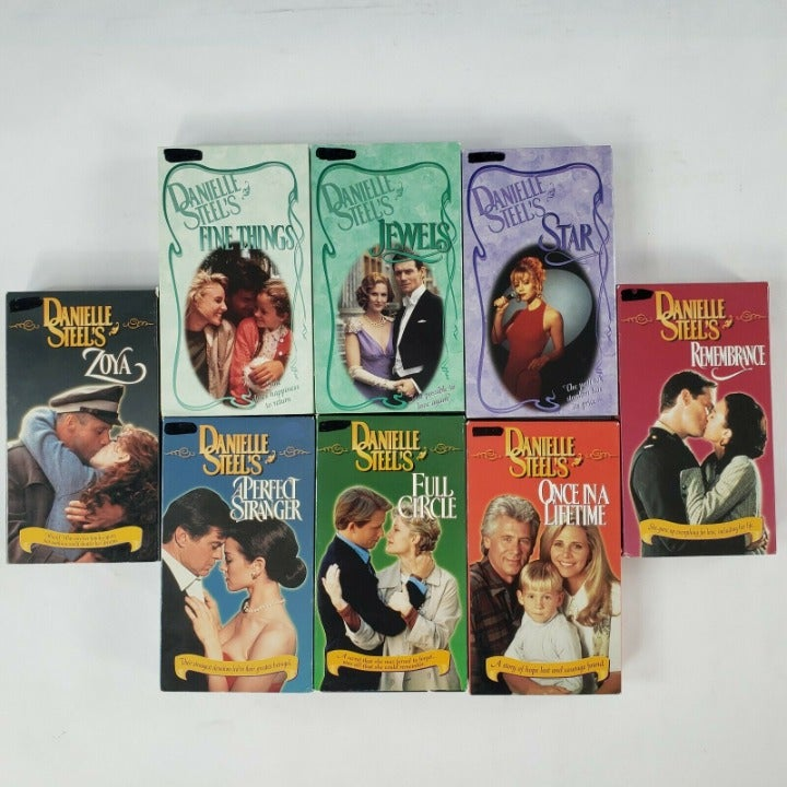 VHS Tapes Danielle Steele Romance Novels