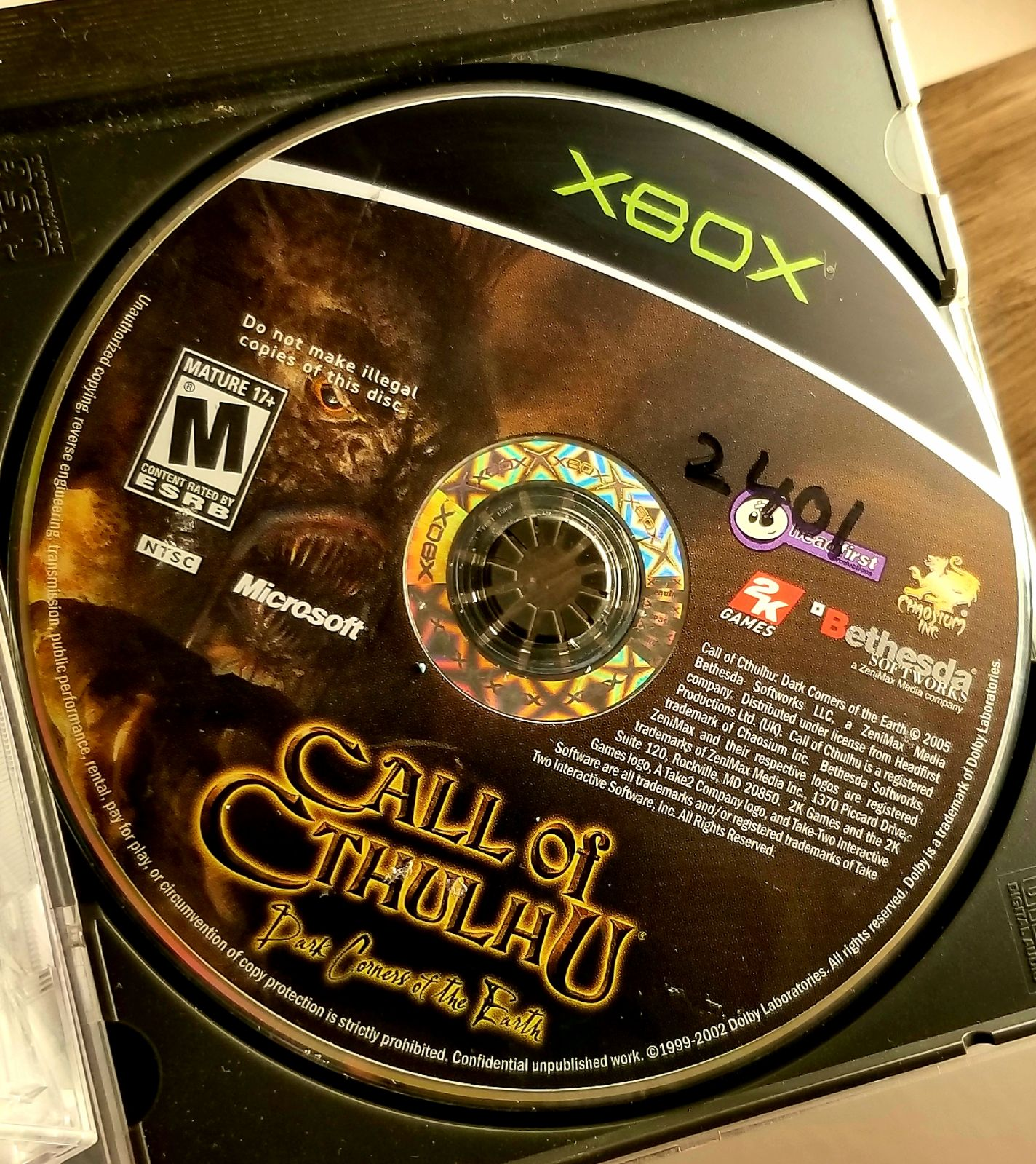 Call of Cthulhu OG xbox