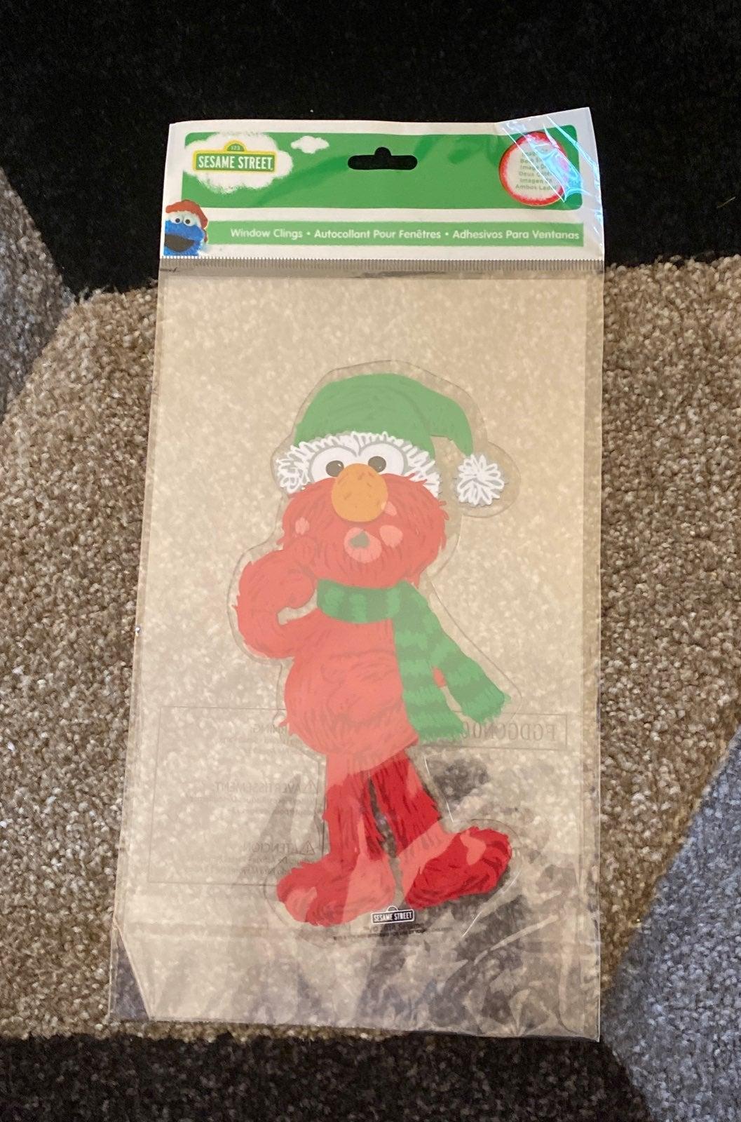 Christmas Elmo window Cling