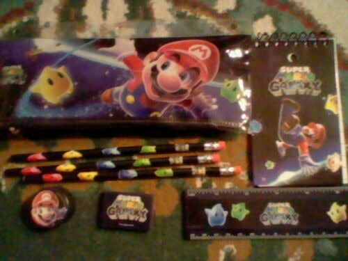 Super Mario Galaxy Pencil Bag, pencils +