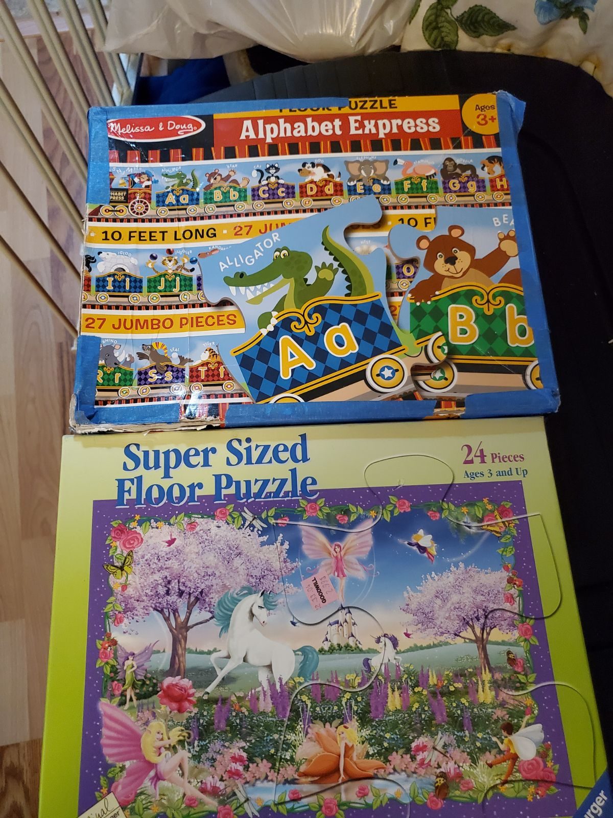 Lot of 2 Floor Puzzles Ravensburger