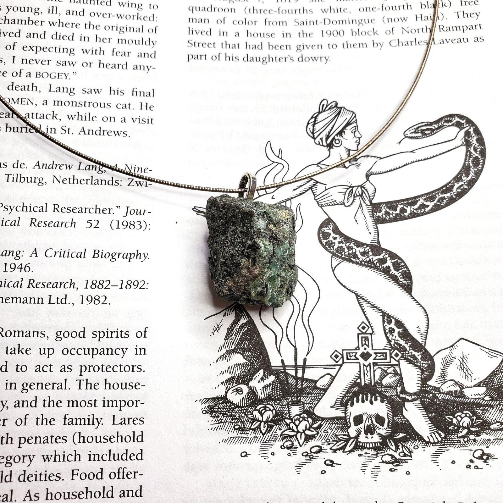 Raw Emerald Crystal Gemstone Necklace