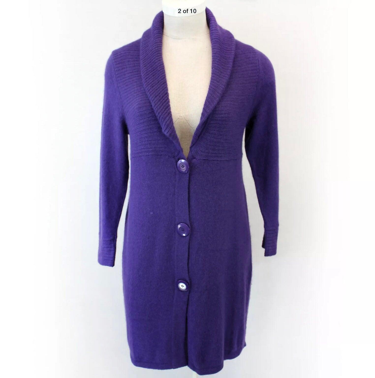 J. Jill Plus Purple Button Cardigan 1X