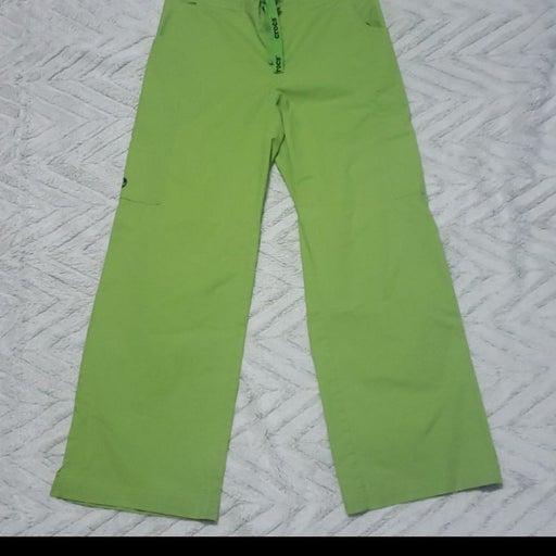 Neon green Crocs scrub pants SP scrubs