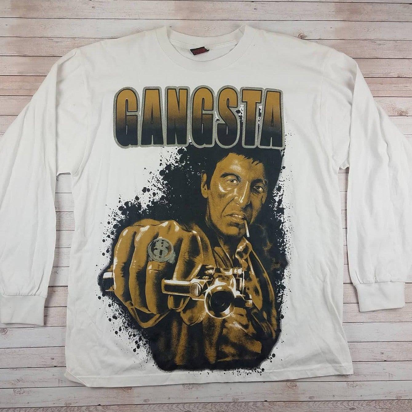 Y2K Scarface Gangsta Long Sleeve Shirt
