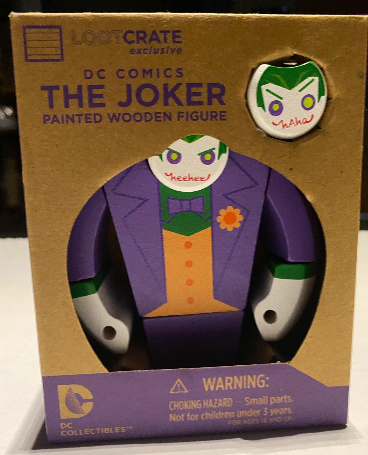 Loot Crate Joker Wooden Figure