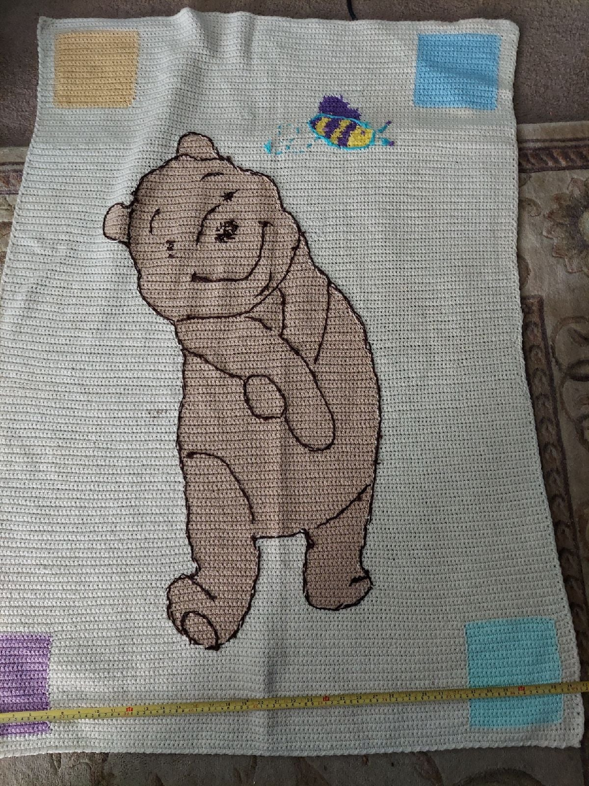 Winnie the pooh handmade blanket