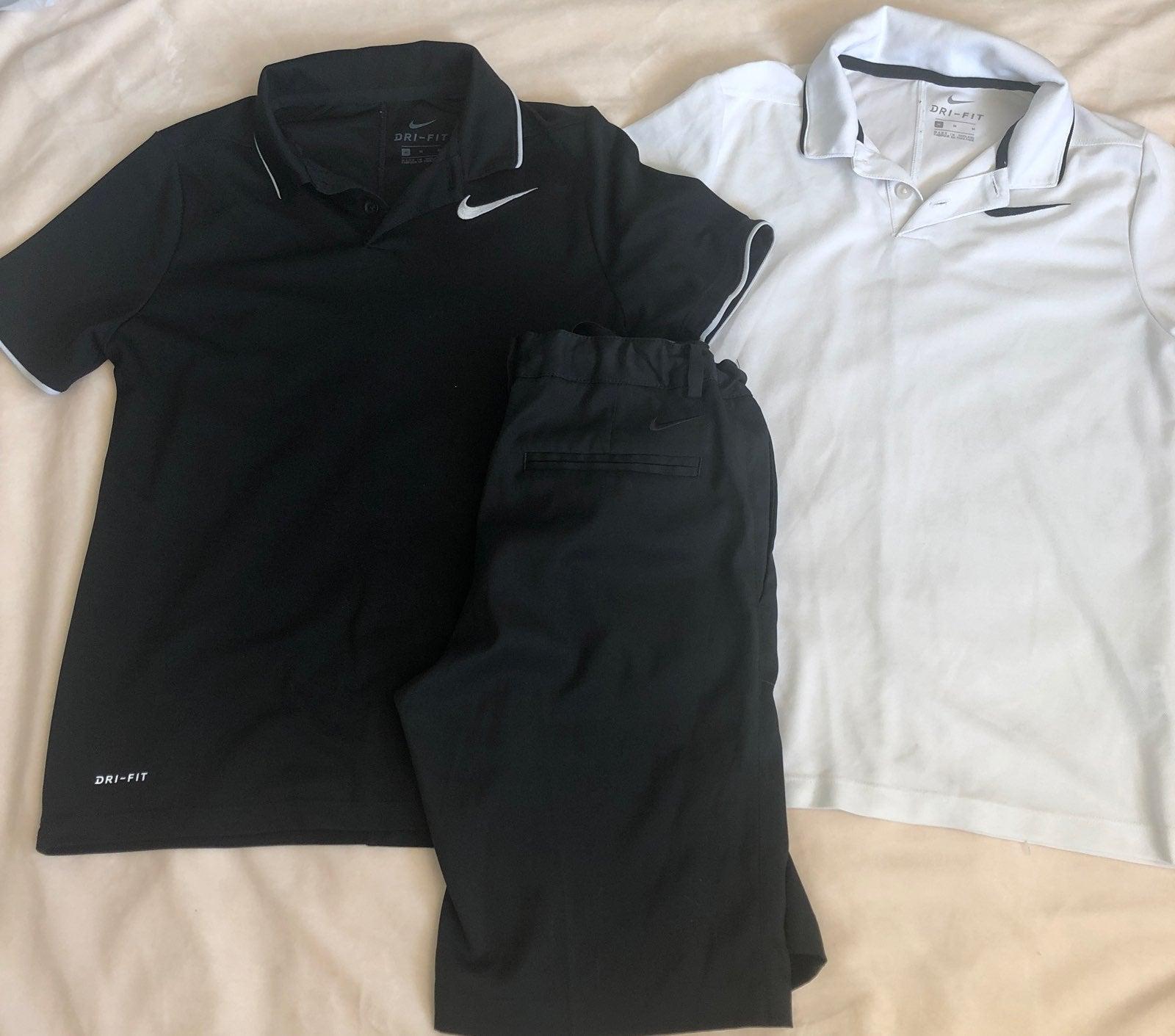 Nike dri fit shirt and shorts size M