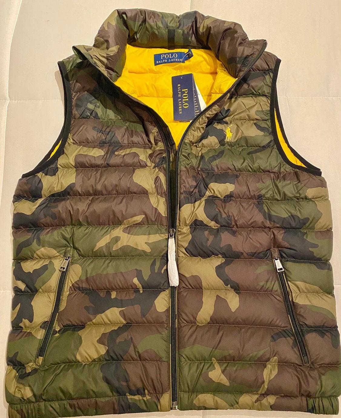 Polo Ralph Lauren Puffer Camo Vest, Med.