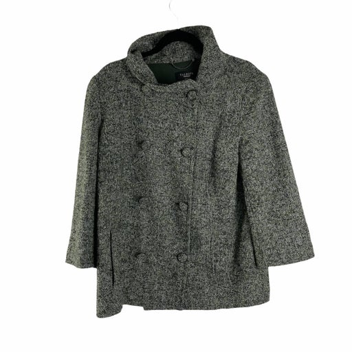 TALBOTS Double-Breasted Wool Blend Coat