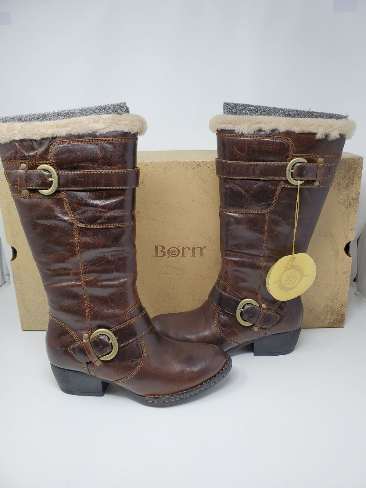 Brand new leather Born Randi boot $210 T