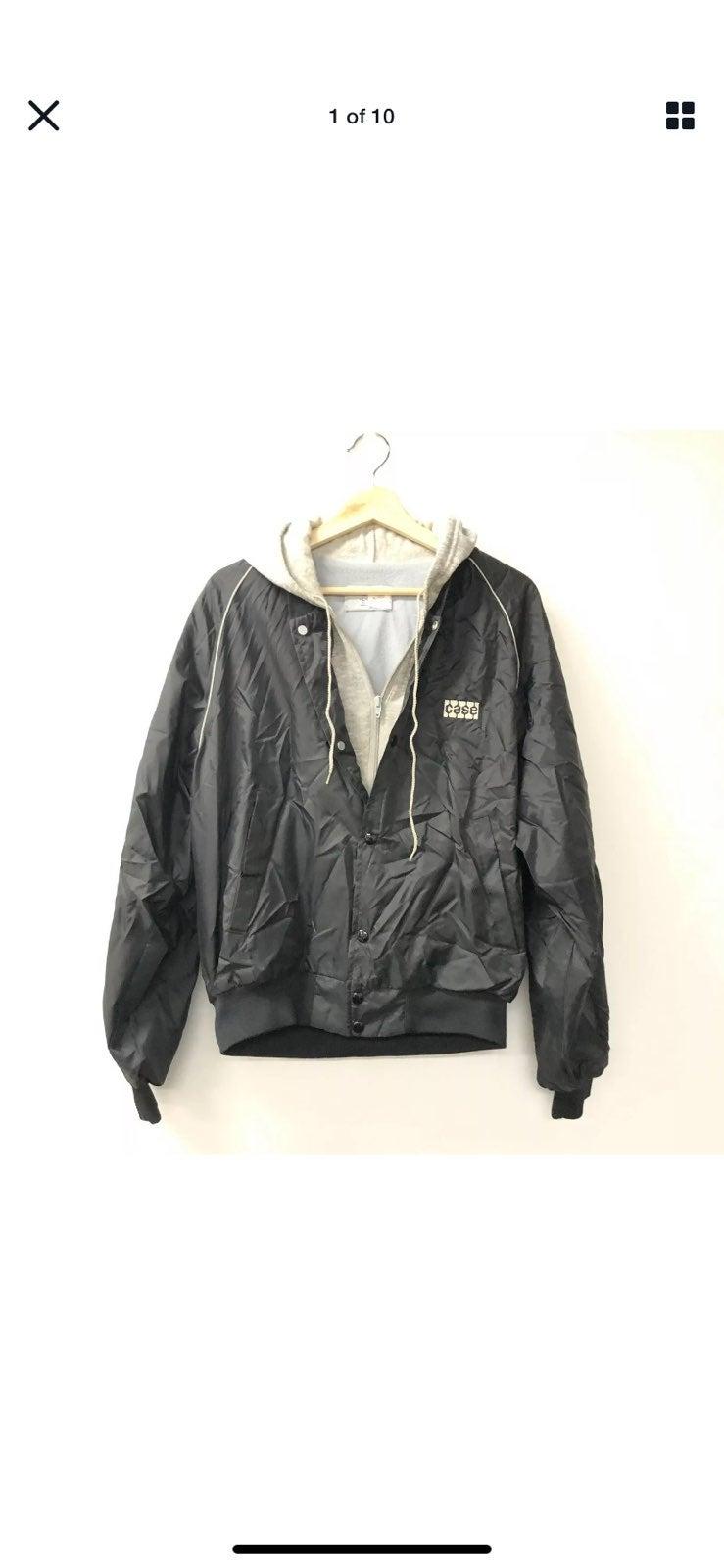 Vintage swingster hooded bomber jacket