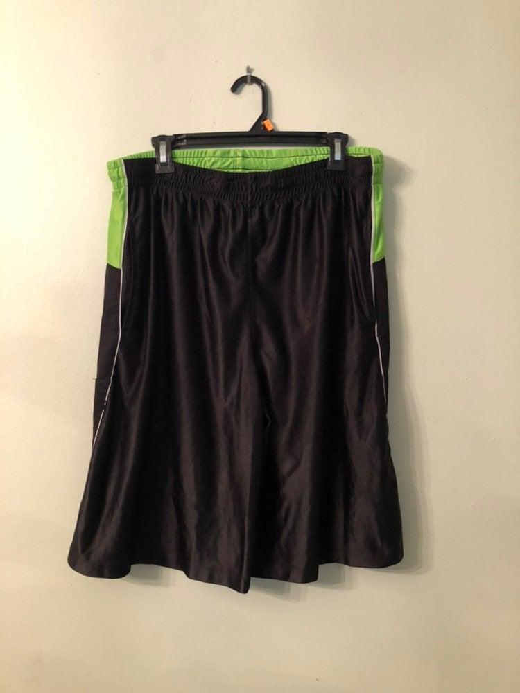 Mens Black & Green TAPOUT Shorts