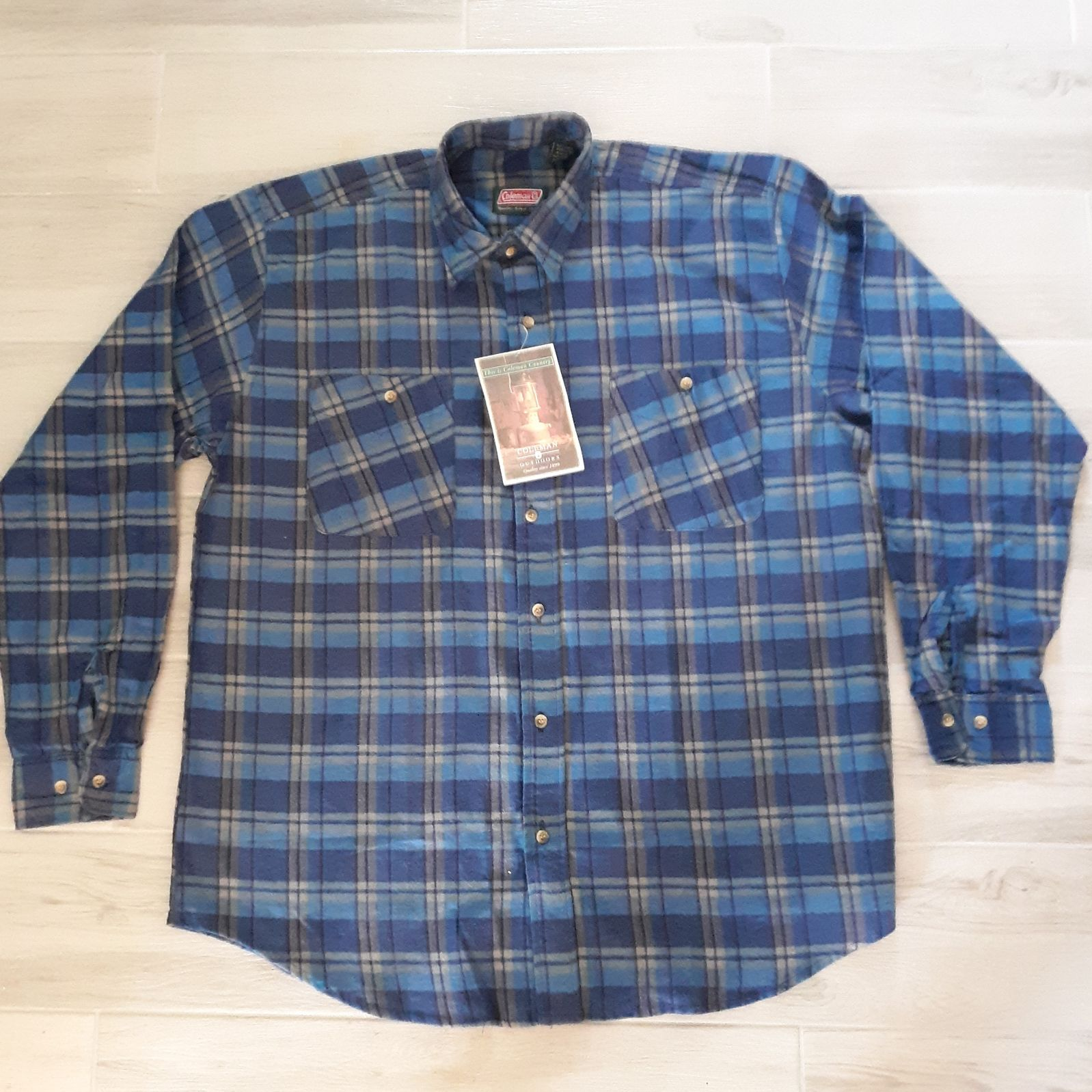 VTG Coleman Outdoors Flannel Shirt NOS B