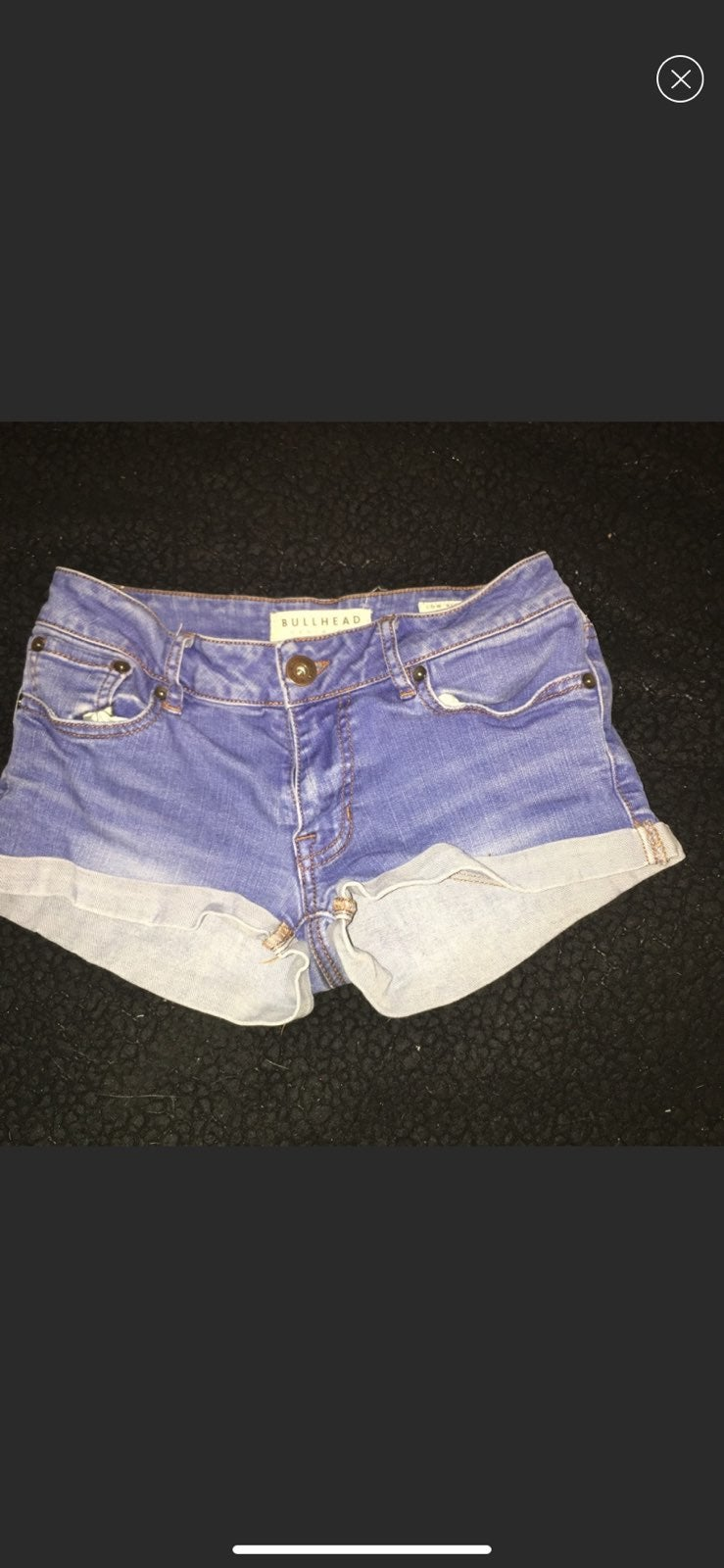 pacsun/bullhead low rise shorts