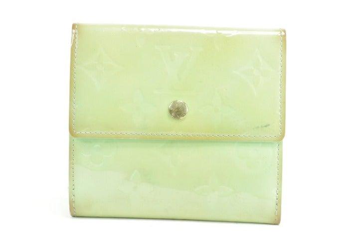 Louis Vuitton Green Elise Snap Compact