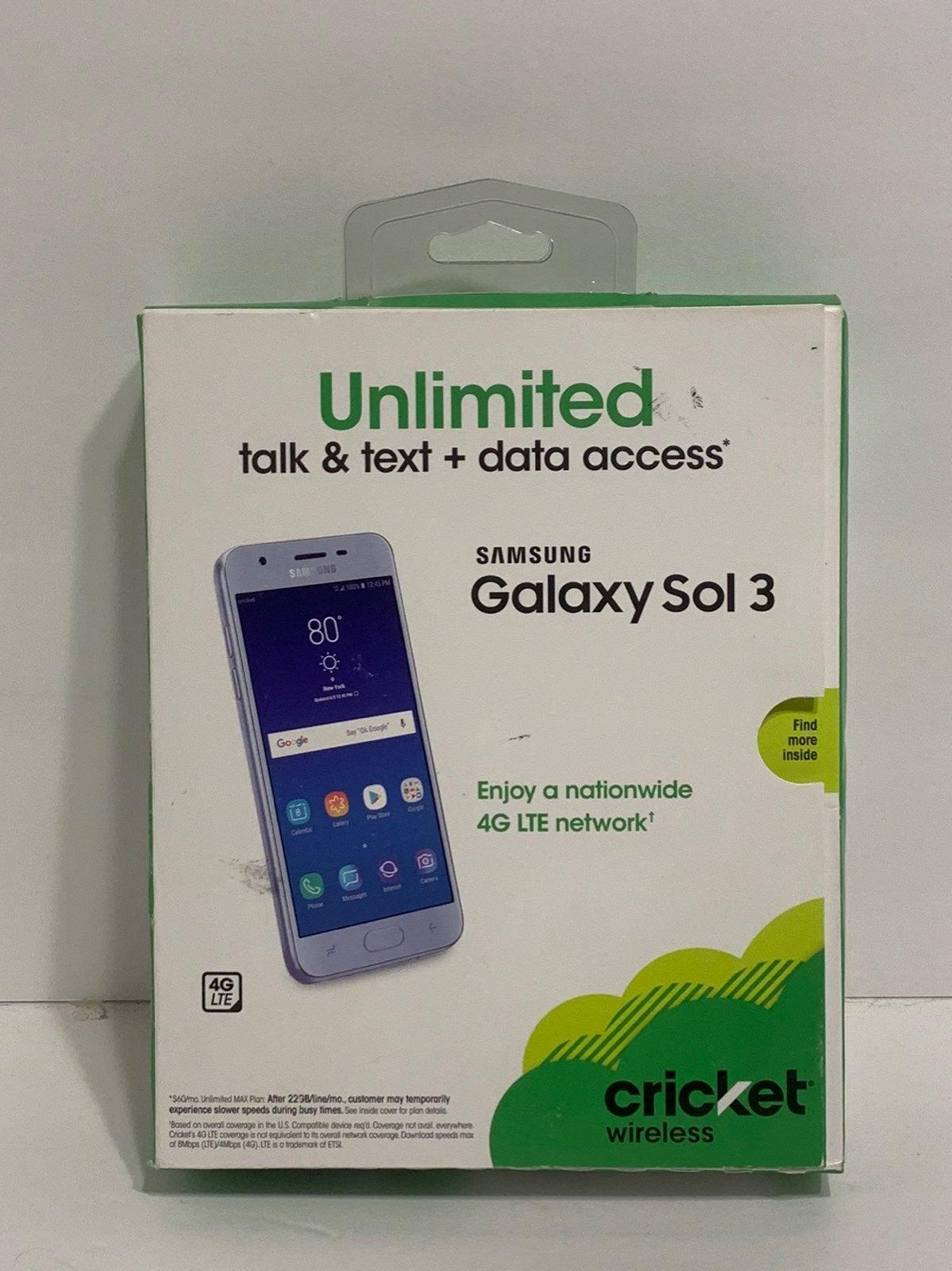 Cricket wireless Samsung Galaxy Sol 3