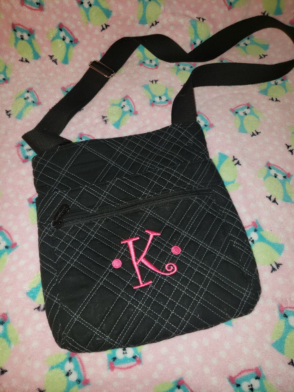 "Personalized ""K"" thirty one crossbody"