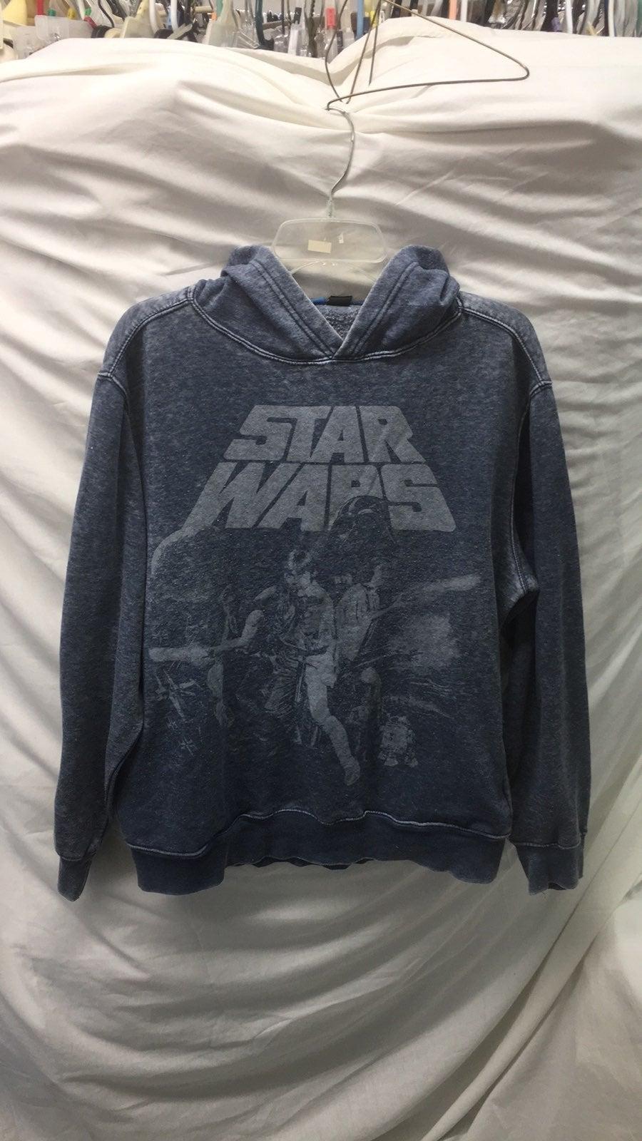 Star wars fleece hoodie men sz md retro