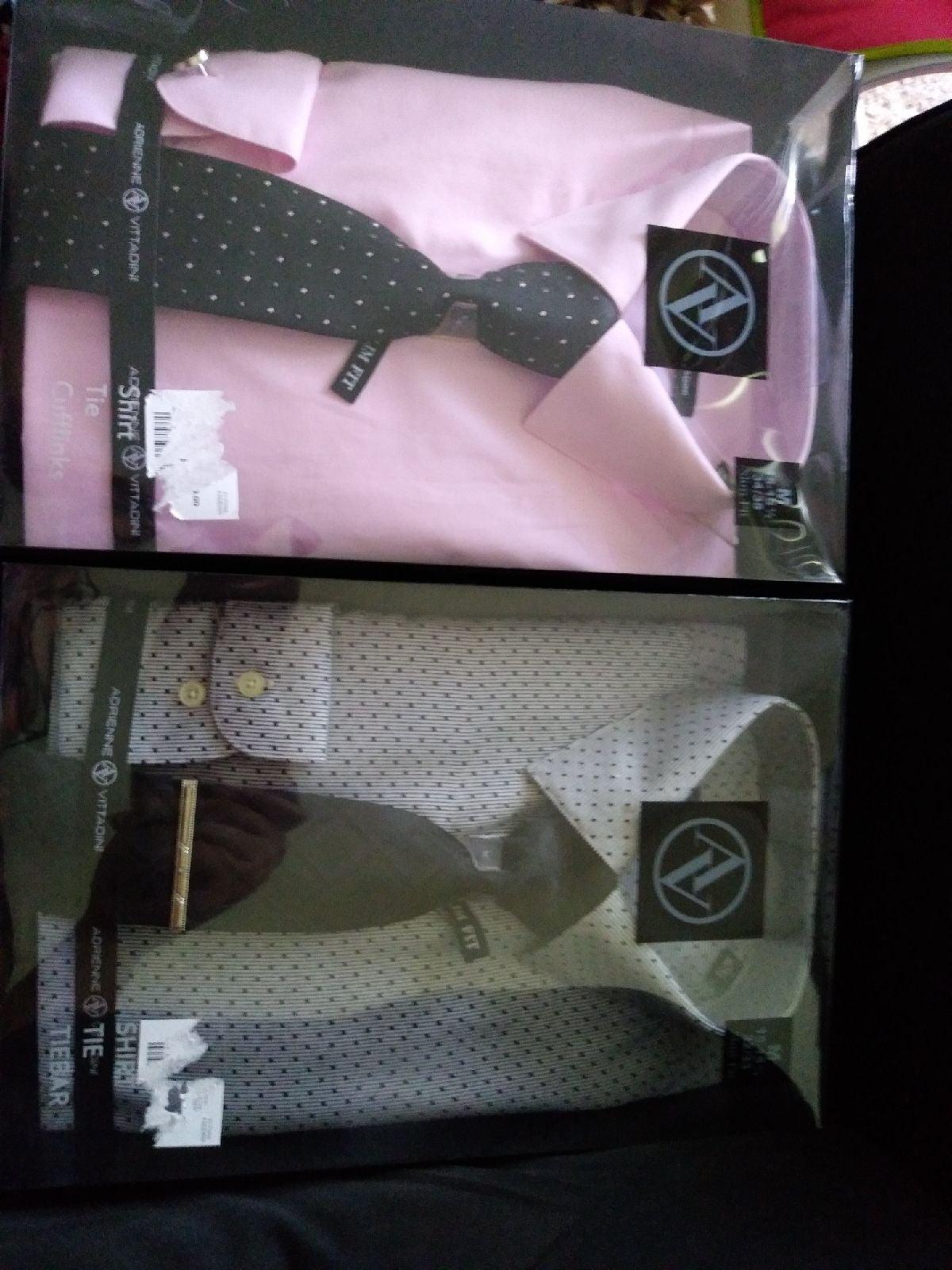 Two Adrienne Vittadini Men's Dress Shirt