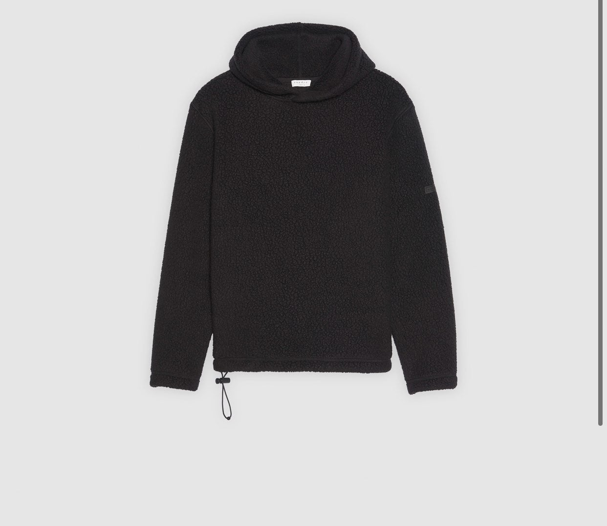 Sandro Polartec Black Fleece Hoodie - XL