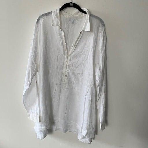 JJill Cotton Gauze Tunic Top